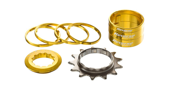 Reverse Single Speed Kit Kassette guld